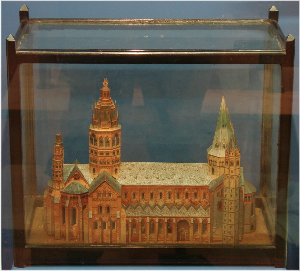 Maqueta de Catedral que hizo Merrick. Todavía se conserva en el museo del hospital.