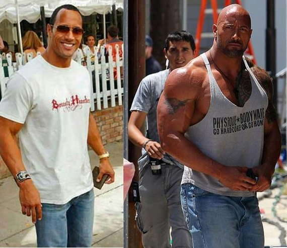 Dwayne Johnson delgado