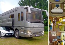 caravana con garaje