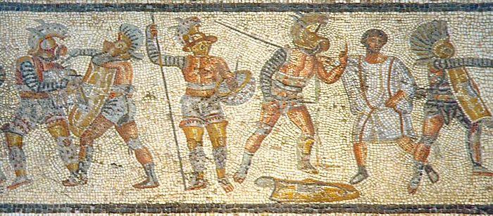 los combates de los gladiadores