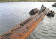 submarino soviético K-8