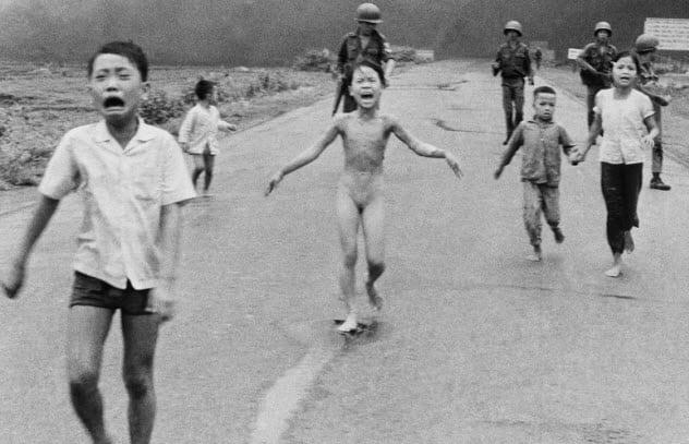 foto de la niña de la guerra de vietnam