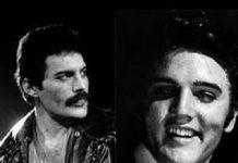 Elvis Presley y Freddie Mercury