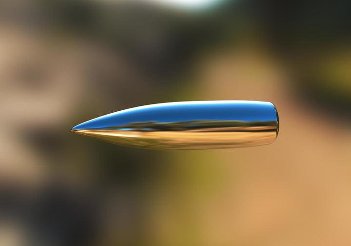 cuanto tarda una bala disparada al aire en caer