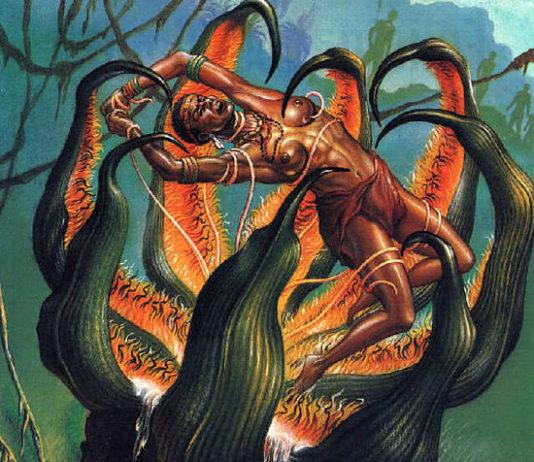 Planta Carnívora que comía personas