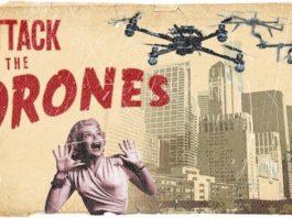 dron ataca fiesta