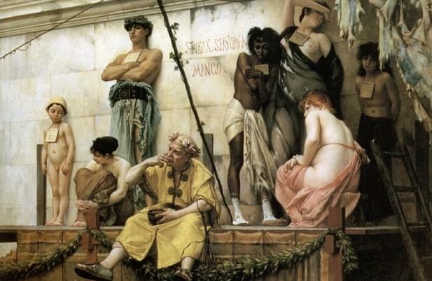 esclavos en el imperio romano