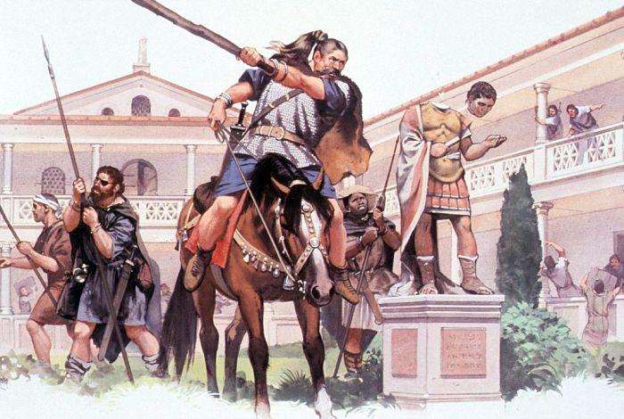 barbaros en la antigua roma