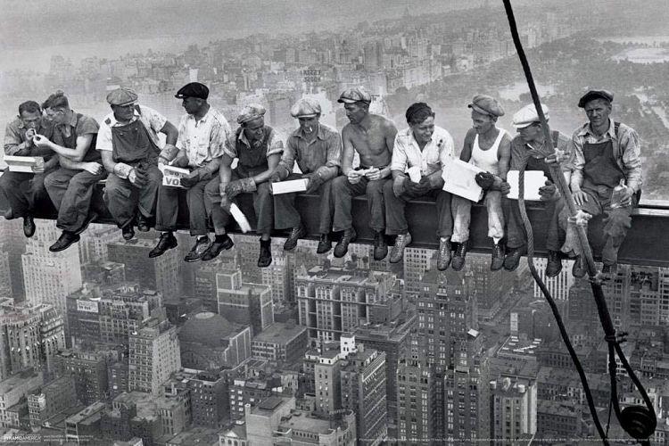 Almuerzo en lo alto del rascacielos