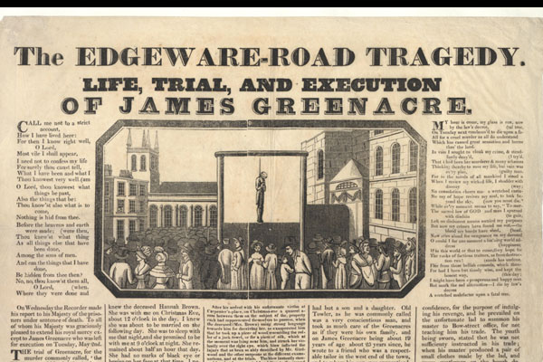 English Crime and Execution Broadsides Collection