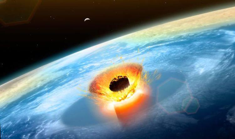 impacto de un asteroide o meteorito