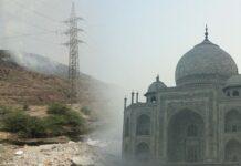 montaña de basura en Nueva Delhi